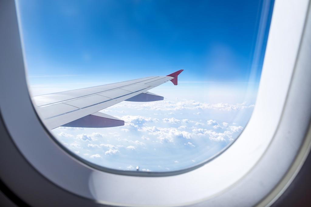 飛行機のガラス